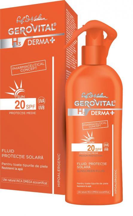 Gerovital H3 D+ Sun Fluid SPF20 x 150ml 4630