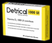 Detrical Vitamina D3 1000UI x 60cp (Zdrovit)