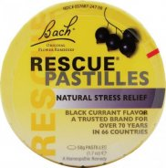 Rescue pastilles blackcurrant Bach x 50g