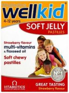 Wellkid Soft Jelly capsuni x 30cpr
