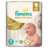Pampers 3 Premium Care (4-9kg) x 80buc