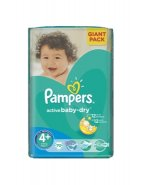 Pampers 4+ Active Baby 9-16kg x 70buc